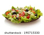 salad in plate isolated on... | Shutterstock . vector #190715330