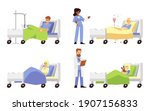 patients in hospital medical... | Shutterstock .eps vector #1907156833