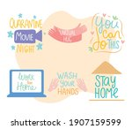 inspirational and covid... | Shutterstock .eps vector #1907159599