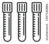 blood donation test tubes icon. ...   Shutterstock .eps vector #1907160886
