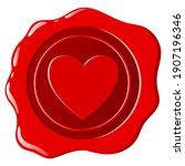 wax seal. a beautiful depiction ...   Shutterstock .eps vector #1907196346