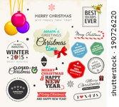 set of typographic elements....   Shutterstock .eps vector #190726220