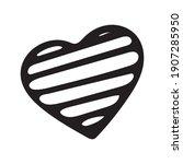 hand drawn valentine day heart... | Shutterstock .eps vector #1907285950