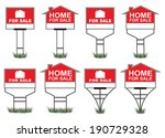 home for sale signs is an... | Shutterstock .eps vector #190729328