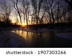 Icey Sunset At Sidecut...