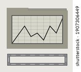 an abstract retro line chart...
