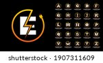 set flash initial letter logo... | Shutterstock .eps vector #1907311609