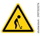 golf area symbol sign  vector...   Shutterstock .eps vector #1907323276