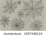 hand drawn with a simple pencil ... | Shutterstock . vector #1907338123