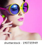 colorful summer portrait of an... | Shutterstock . vector #190735949