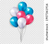 realistic 3d balloon collection ...   Shutterstock .eps vector #1907361916