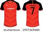 sports jersey t shirt design... | Shutterstock .eps vector #1907369680