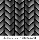 seamless halftone geometric... | Shutterstock .eps vector #1907369683