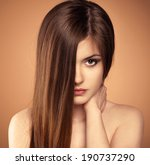 hair care. beauty portrait of... | Shutterstock . vector #190737290