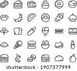 food line icon set   burger ... | Shutterstock .eps vector #1907377999