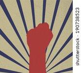 vector fist raising retro design | Shutterstock .eps vector #190738523