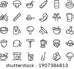 food line icon set   sausage on ... | Shutterstock .eps vector #1907386813