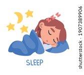 sleep word  the verb expressing ... | Shutterstock .eps vector #1907389906