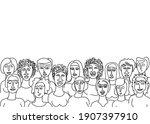 contour image of women. the... | Shutterstock .eps vector #1907397910