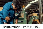 Skillful Factory Worker Rescue...