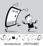 computers scare me sometimes.... | Shutterstock .eps vector #190741883