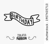 hand drawn vector birthday... | Shutterstock .eps vector #1907435713