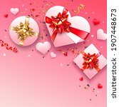 square valentine's day greeting ... | Shutterstock .eps vector #1907448673