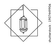 old vintage traditional lantern ... | Shutterstock .eps vector #1907449906