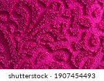 Texture Of Burgundy Terry Towel ...