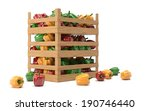 peppers in boxes | Shutterstock . vector #190746440