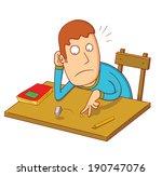 bored student | Shutterstock .eps vector #190747076