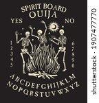spirit board ouija with... | Shutterstock .eps vector #1907477770