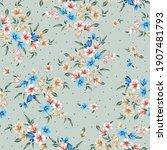 blue orange and cream small... | Shutterstock .eps vector #1907481793