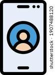 user vector color line icon