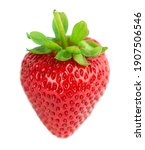 strawberry isolated on white... | Shutterstock . vector #1907506546