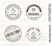 vector set of coffee label... | Shutterstock .eps vector #1907508556