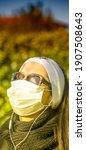 Woman Wearing Health Mask In...