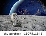 An Astronaut Standing On The...