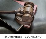 Judge's Gavel And Legal Books...