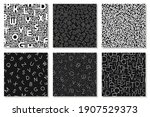 set of vector alphabet patterns ... | Shutterstock .eps vector #1907529373