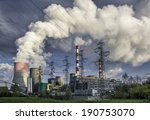 day view of power plant  smoke... | Shutterstock . vector #190753070
