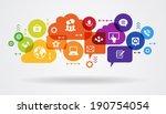 social media concept.... | Shutterstock .eps vector #190754054