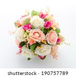 bouquet flowers isolated on... | Shutterstock . vector #190757789