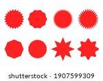 starburst sticker set for promo ... | Shutterstock .eps vector #1907599309