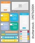 flat user interface element set