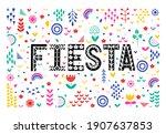 fiesta colorful banner. festive ...   Shutterstock .eps vector #1907637853
