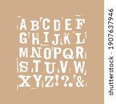 vector latin stamp font. stamp...   Shutterstock .eps vector #1907637946