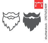 leprechaun beard line and glyph ...   Shutterstock .eps vector #1907652409