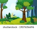 illustration of a summer forest ... | Shutterstock .eps vector #1907656696