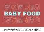 baby food word concepts banner. ...